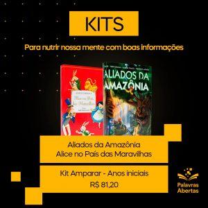 Imagem com a capa dos livros do Kit